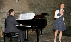 Recital of Gwendoline Spies & Pablo Garcia-Berlanga at Festival de Wallonie - Juillet Musical Saint-Hubert. 27 July 2014 (C) Jose Layon